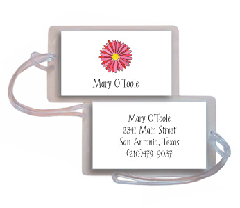GERBER DAISY LUGGAGE TAG