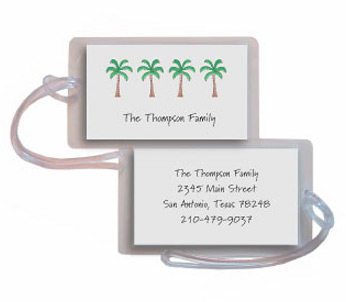 PALM TREES LUGGAGE TAG