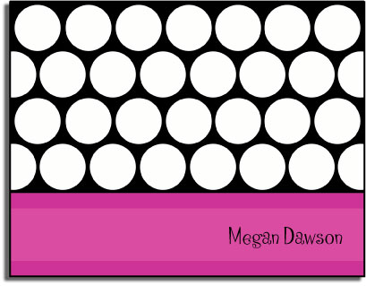MAGENTA DOTS FOLDED NOTE CARDS