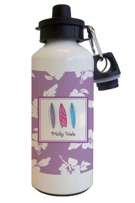 SURFS UP PURPLE WATER BOTTLE