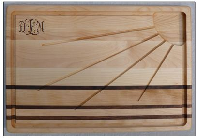 PERSONALIZED INTEGRITY SUNBURST CARVING BOARD