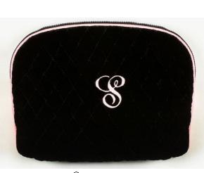 Black Velvet Cosmetic Case