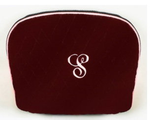 Cranberry Velvet Cosmetic Case