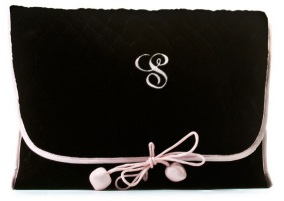 Black Velvet Lingerie Bag
