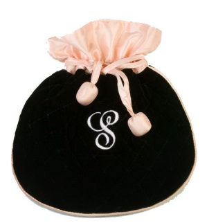 Black Velvet Jewelry Pouch