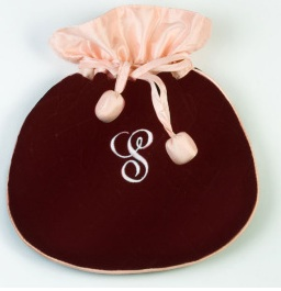 Cranberry Velvet Jewelry Pouch